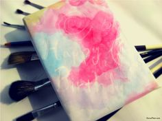 DIY watercolor wrapping paper