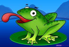 Cartoon Frog   How to Draw a Cartoon Frog, Step by Step, Cartoon Animals, Animals ...