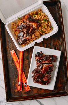 These Chinese Rib Tips are marinated in a homemade Chinese BBQ sauce and oven baked until they're fall-apart tender! We've got a few tricks to recreate the flavors of your favorite Chinese takeout ribs––only if they were much, MUCH better. Chinese Bbq Sauce, Chinese Ribs, Chinese Food, Chinese Style, Rib Tips, Wok Of Life, Hoisin Sauce, Pork Ribs, Bbq Pork