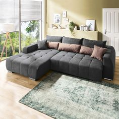 Osterfest - Dekorieren & Einrichten The Lenox corner sofa offers enough space for your loved ones th Apartment Room, Living Room Decor Modern, Living Room Decor Cozy, Modern Rustic Living Room, Comfy Couch, Apartment Living Room, Classy Living Room, Pinterest Room Decor, Rustic Family Room