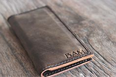 PERSONALIZED WALLET  Leather iPhone 6 PLUS Wallet by JooJoobs