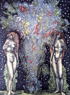Lilith ~ Behind the Tree of Knowledge / Ernst Fuchs / Embodied <3