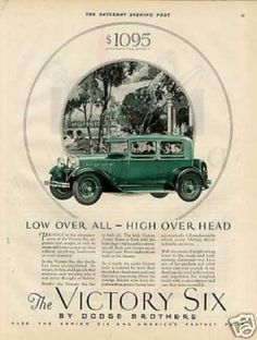 Dodge Brothers Victory Six Car Color (1928)