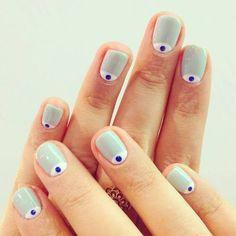 Mas de 50 diseños de uñas decoradas en la media luna o lúnula | Decoración de Uñas - Manicura y Nail Art - Part 4