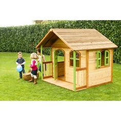 Wooden Outdoor Playhouse, Kids Indoor Playhouse, Outside Playhouse, Backyard Playhouse, Build A Playhouse, Backyard Buildings, Backyard For Kids, Garden Kids, Plein Air