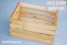 Coffee Stained Wooden Crate