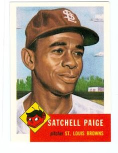 Satchell Paige from the 1953 St. Louis Browns