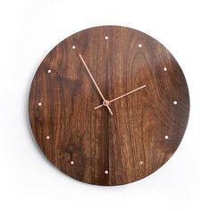 Solid Wood Wall Clock  walnut maple oak or cherry