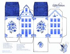 Dutch house no 2 Paper Doll House, Paper Houses, Kirigami Templates, Dutch House, House Template, Putz Houses, Glitter Houses, 3d Prints, Creative Activities