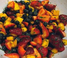 Veggie Might: Sublime Fruit Salad with Mint - A Fruit Salad to Rival the Cheese Plate