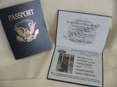 passport wedding invitations uk