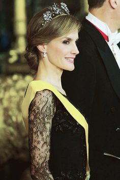 HRH Crown Princess Letizia of Spain attends gala banquet in honor of Mexico's President Enrrique Pena Nieto June 9, 201