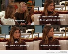 Classic Rachel...this might be one of my all time favorite friends moments