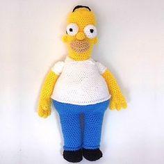 Muñeco Homer Simpson Amigurumi - Patrón Gratis en Español aquí…