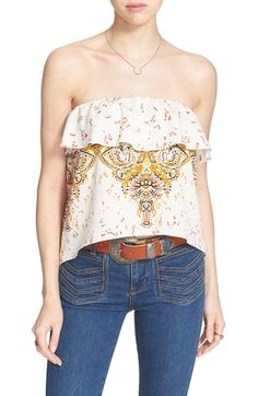 FREE PEOPLE Mixed Print Strapless Top. #freepeople #cloth #