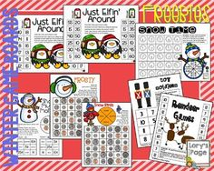 Winter Math Game Boards