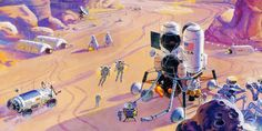 Gavin Rothery - Directing - Concept - VFX - Gavin Rothery Blog - Robert McCall's NASA Paintings