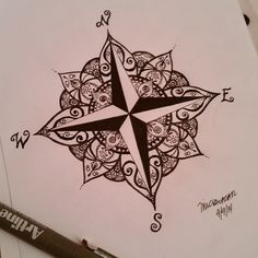 Ideas for tattoo compass ideas tatoo Forearm Tattoos, Body Art Tattoos, Sleeve Tattoos, Heart Tattoos, Skull Tattoos, Mandala Rosa, Piercing Tattoo, Piercings, Tattoo Painting