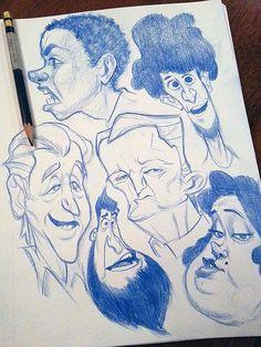 Скетч персонажи   371 фотография