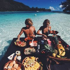 This looks epic! Picnic in the ocean. // by Jay Alvarrez and Alexis Reneg