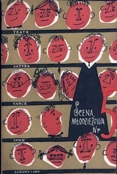 """""""Scena młodzieżowa nr 5"""" Cover by Mirosław Pokora Published by Wydawnictwo Iskry 1959"""