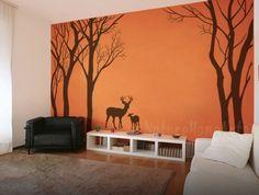 Wandtattoo Wanddekoration - Baum mit deer von NatureHomeArts auf DaWanda.com