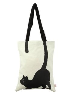 Would Love to Have this one when the kitties go to The Pussy Cat's Club. black cat tote
