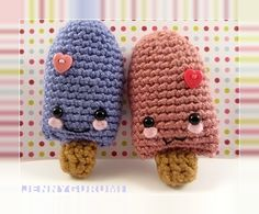 Valentine's Day Popsicle Amigurmi-free pattern from Jennygurumi