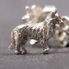 Belgian Shepherd Groenendael silver EARRINGS (studs)