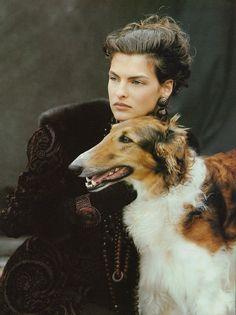Linda Evangelista by Peter Lindbergh, 1988.