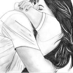 "A tale of my life- ""I dare to move with him to live"" cartoon hug Cute Couple Drawings, Couple Sketch, Cute Couple Art, Girly Drawings, Anime Love Couple, Pencil Art Drawings, Love Drawings, Sketches Of Couples, Drawings For Him"