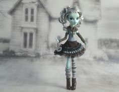Monster High clothes outfit  a brown black and gray by JonnaJonzon