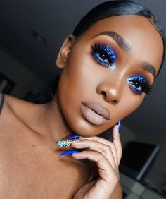 """6,245 Likes, 251 Comments - LAS VEGAS (@tailormadejane) on Instagram: """"ALL BLUE EVERYTHANG  _____________________________________________________ DETAILS ✨✨ NAILS BY…"""""""