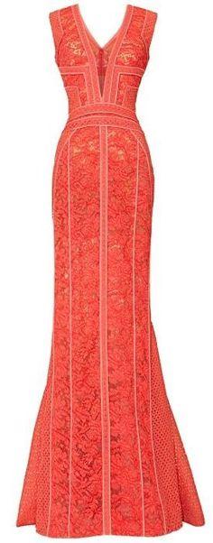 Panelled V-Neck Sleeveless Gown by J. Mendel Spring 2014.