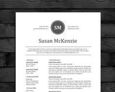 Modern Resume Template For Word   Pages With Cover Letter  Easy