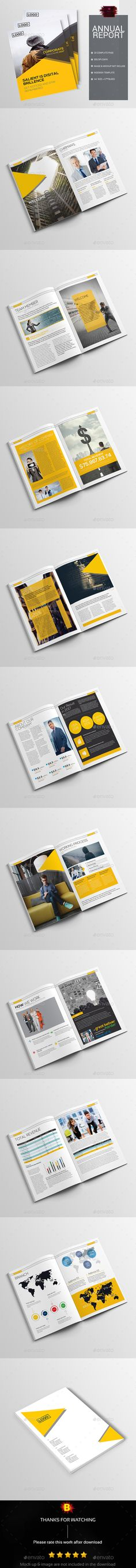 Annual Report Brochure Template #annualreport #annualbrochure - business annual report template