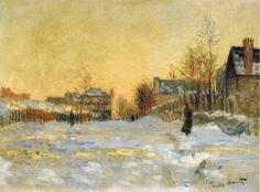 snow effect, Monet