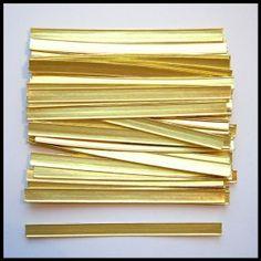 Klipsy do torebek złote (100 sztuk)