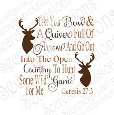 Take Your Bow And Quiver Svg, Religious Svg, Hunting Svg, Dear Svg, Digital Cutting File, DXF, JPEG, SVG Cricut, Svg Silhouette, Print File by SecretExpressionsSVG on Etsy