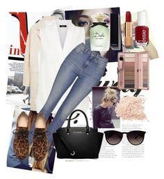 """Casual"" by llmontiel ❤ liked on Polyvore featuring MANGO, Topshop, MICHAEL Michael Kors, Chanel, Essie, Ray-Ban and Dolce&Gabbana"