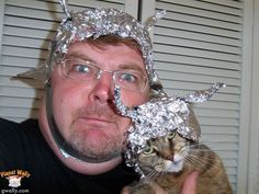 This cat and her tinfoil-wearing bestie. | 31 Animal Pictures You Cannot Explain