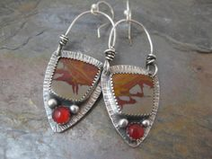 Noreena Jasper and Red Carnelian Sterling Silver by StrawberryFrog