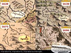 XVIIème siècle - Impraborno, Impraborna, Impraberna Imbroglio Vintage World Maps, History, Once Upon A Time, Historia