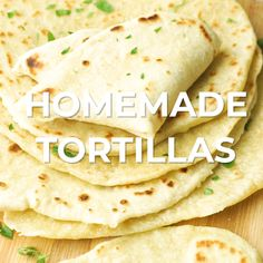 Mexican Food Recipes 460422761908419334 - Homemade flour tortillas are easier to make than you think! We have 3 simple secrets that will have you cranking out the most deliciously soft and tender tortillas! Homemade Flour Tortillas, Recipes With Flour Tortillas, How To Make Tortillas, Flour Tortilla Recipe Butter, Soft Tortilla Recipe, Corn Flour Tortillas, Making Tortillas, Tortilla Bread, Tortilla Recipes