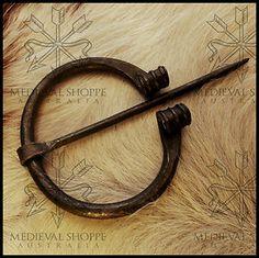Saxon Brooch (Replica) - Cloak Pin. DARK AGES EUROPE Medieval Cloak, Kilt Pin, Dark Ages, Leather Jewelry, Blacksmithing, Horns, Vikings, Vintage Antiques, Europe