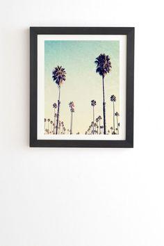 Deny Designs Bree Madden California Palm Trees Framed Wall Art