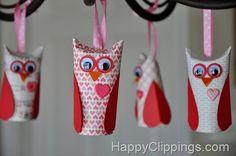15 Valentines craft ideas - yarn hearts, owls, birds, fortune cookies, etc.