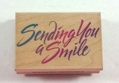 Hero Arts Rubber Stamp Sending You A Smile E1311  #HeroArts #Background