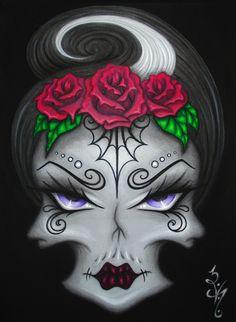 8x10 Gothic Fantasy Day of the Dead Dia de los by Magisterian, $10.00