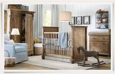 love this nursery furniture! So masculine, so rustic!